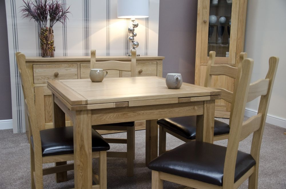 Homestyle GB Elegance Oak Square Extending Dining Table - 90cm-240cm