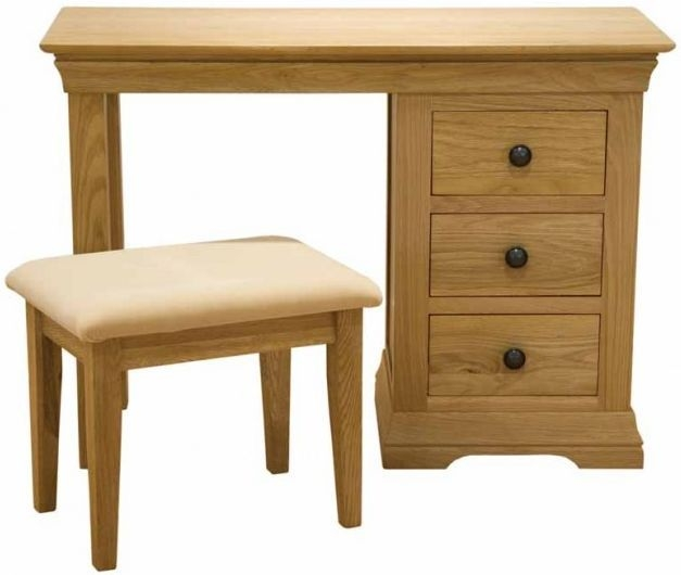 Homestyle GB French Oak Dressing Table and Stool