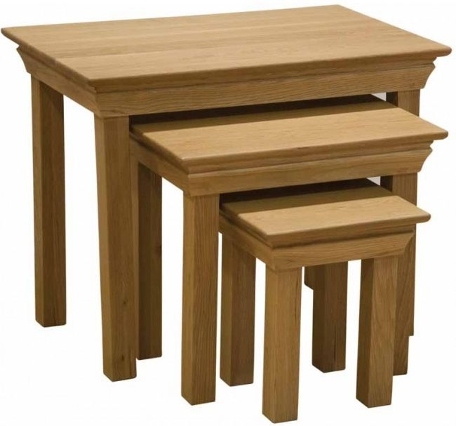 Homestyle GB French Oak Nest of Tables