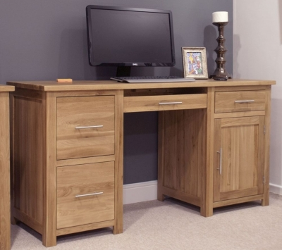 Clearance Homestyle GB Opus Oak Computer Desk - Large