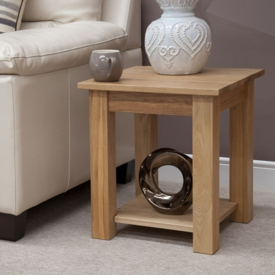 Homestyle GB Lyon Oak Lamp Table