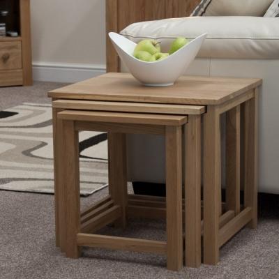Homestyle GB Lyon Oak Nest of Tables