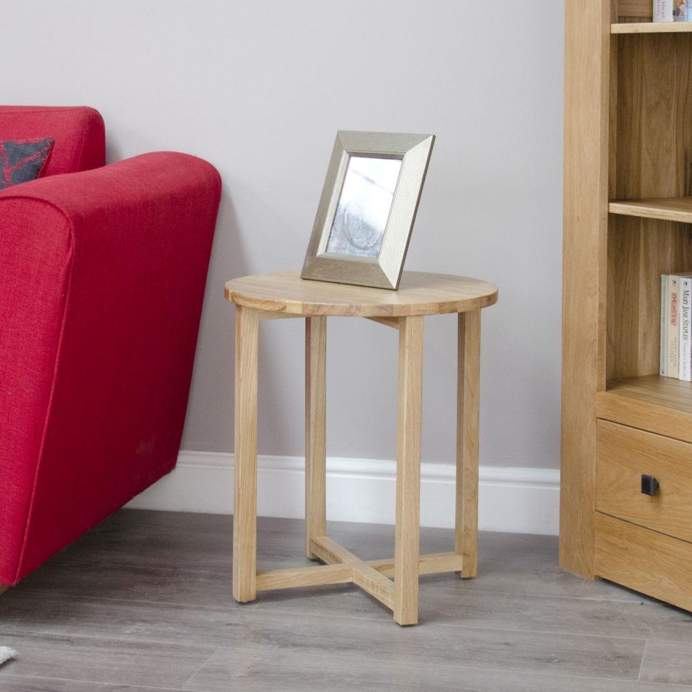 Homestyle GB Lyon Oak Round Lamp Table