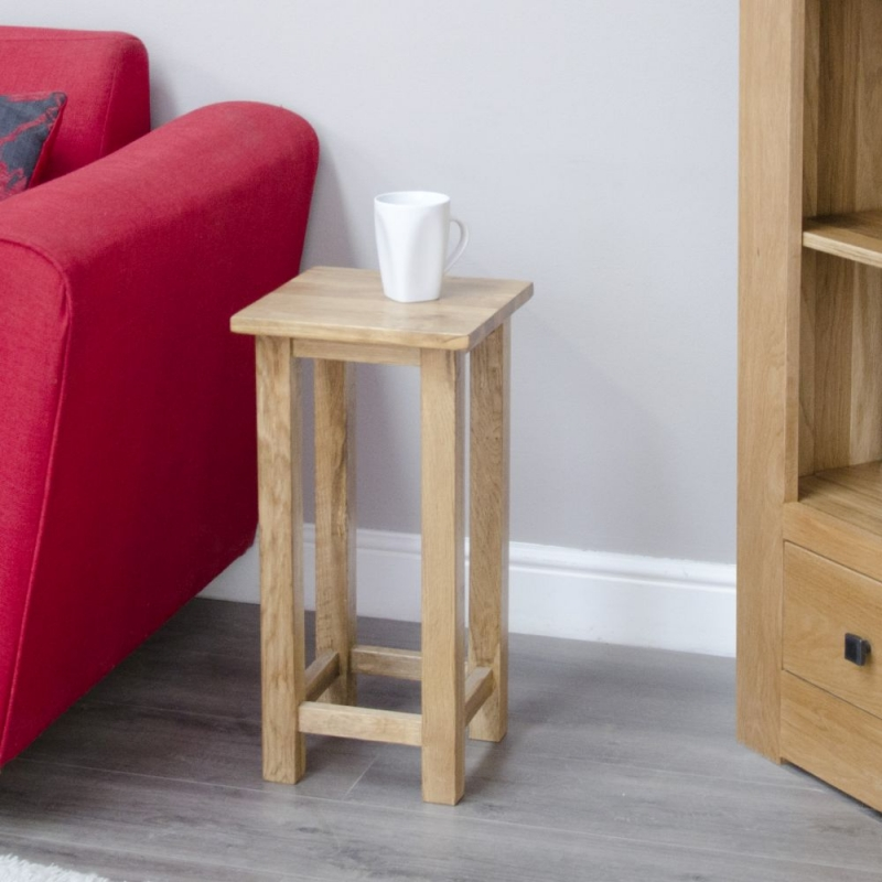 Homestyle GB Lyon Oak Square Occasional Lamp Table