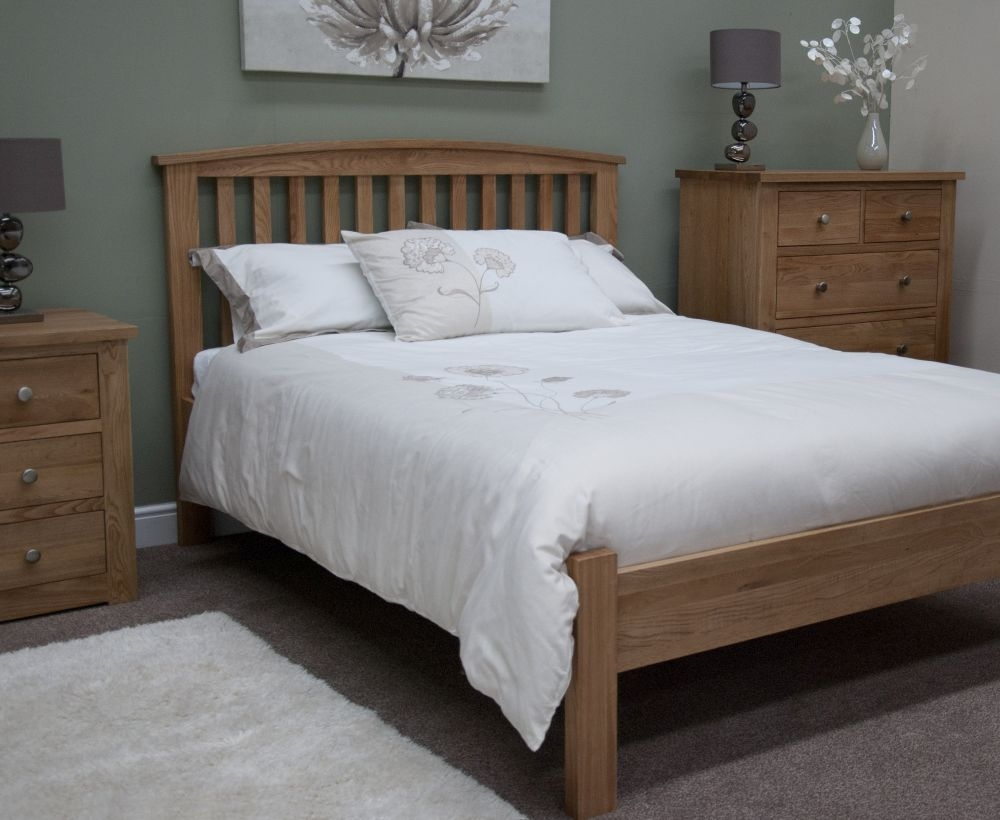 Homestyle GB Milano Oak Arched Rail Bed