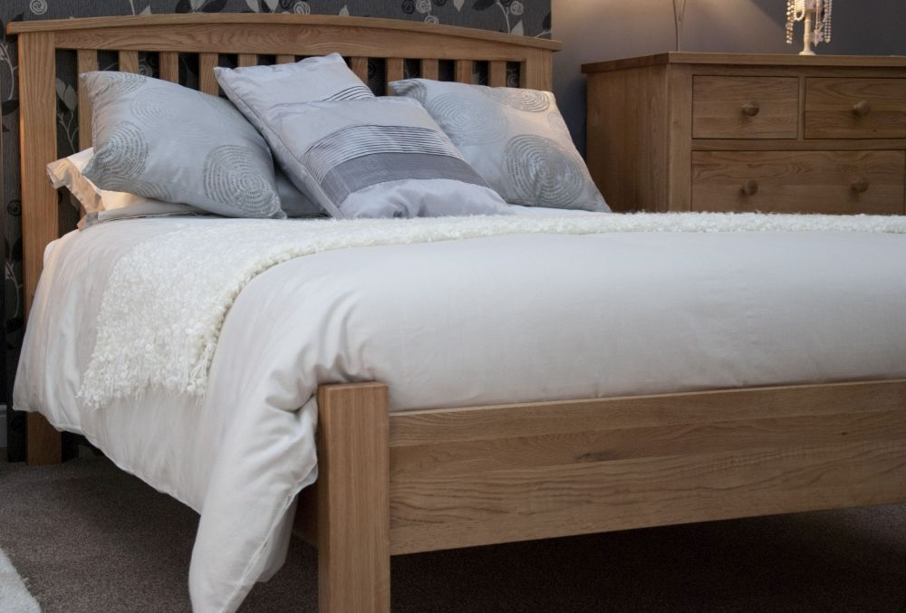 Homestyle GB Milano Oak Rail Bed