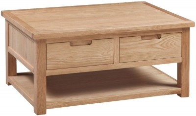 Homestyle GB Moderna Oak Storage Coffee Table