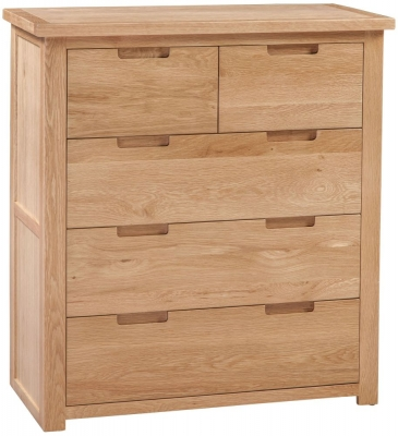 Homestyle GB Moderna Oak 3+2 Drawer Chest