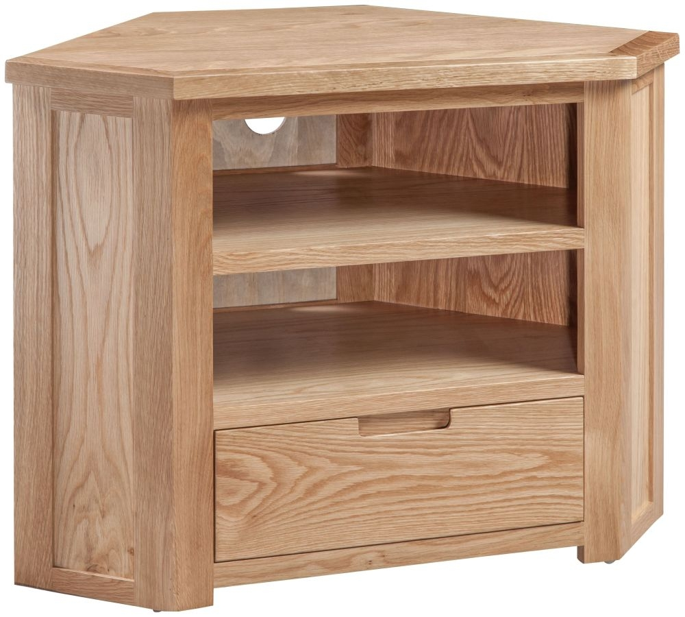 Homestyle GB Moderna Oak Corner TV Cabinet