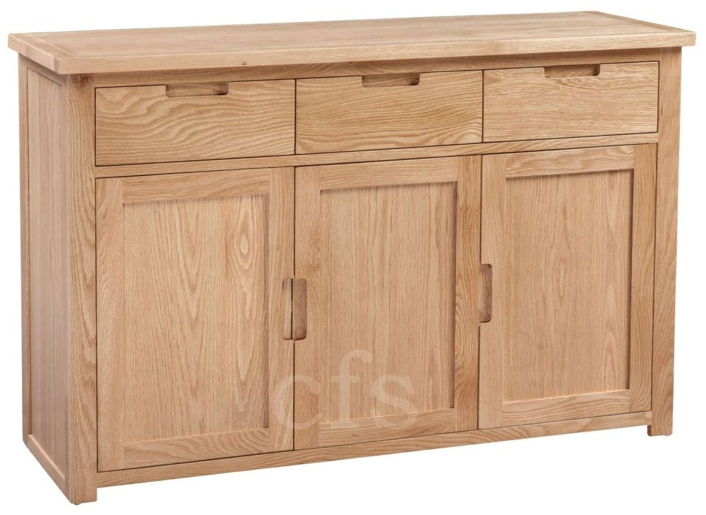 Buy Homestyle Gb Moderna Oak Sideboard Large Online Cfs Uk