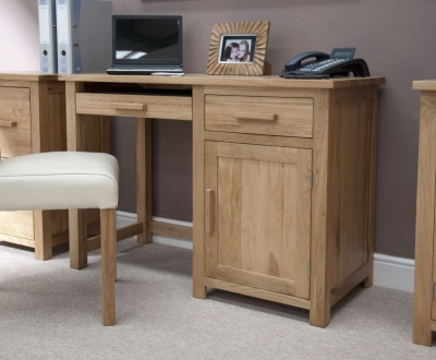 Homestyle GB Opus Oak Single Pedestal Computer Desk