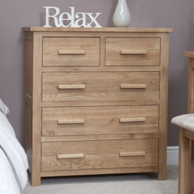 Homestyle GB Opus Oak 3+2 Drawer Chest