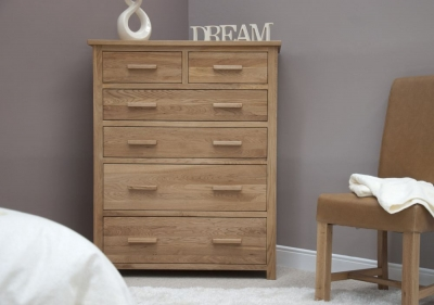 Homestyle GB Opus Oak 4+2 Drawer Jumbo Chest