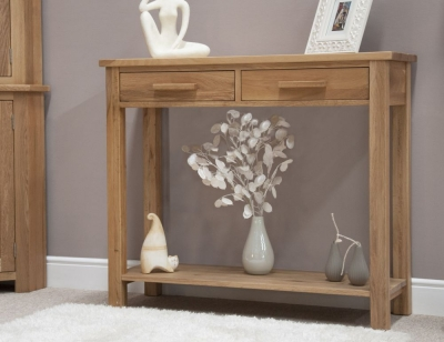 Homestyle GB Opus Oak Large Console Table