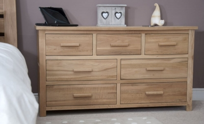 Homestyle GB Opus Oak 4+3 Drawer Multi Chest