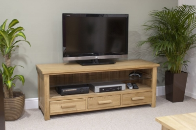 Homestyle GB Opus Oak Small Plasma TV Unit