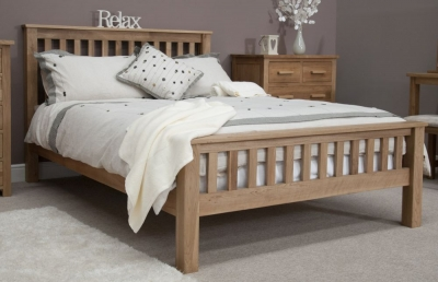 Homestyle GB Opus Oak Bed - High Foot End