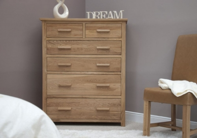 Homestyle GB Opus Oak Chest of Drawer - Jumbo