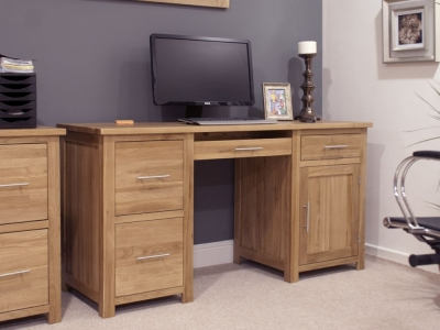 Homestyle GB Opus Oak Computer Desk - Large