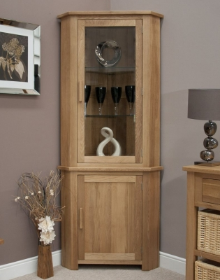 Homestyle GB Opus Oak Display Unit - Corner