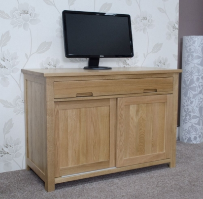 Homestyle GB Opus Oak Hideaway Computer Desk