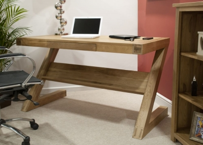 Homestyle GB Opus Oak Office Desk - Z Style