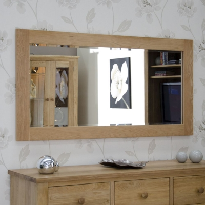 Homestyle GB Opus Oak Rectangular Large Wall Mirror 75cm x 150cm