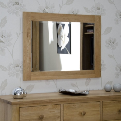 Homestyle GB Opus Oak Rectangular Small Wall Mirror 72cm x 102cm