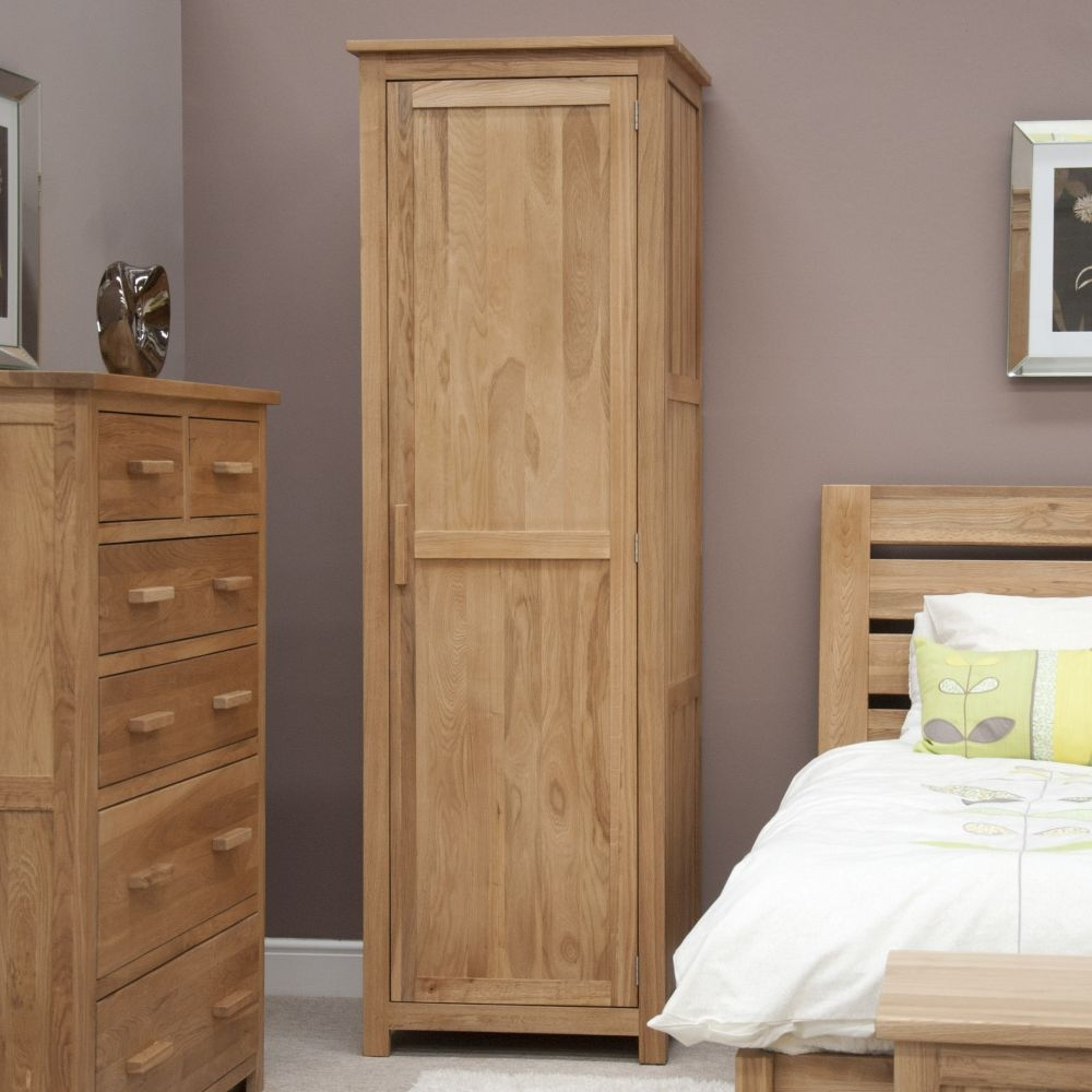 Homestyle GB Opus Oak 1 Door Single Wardrobe