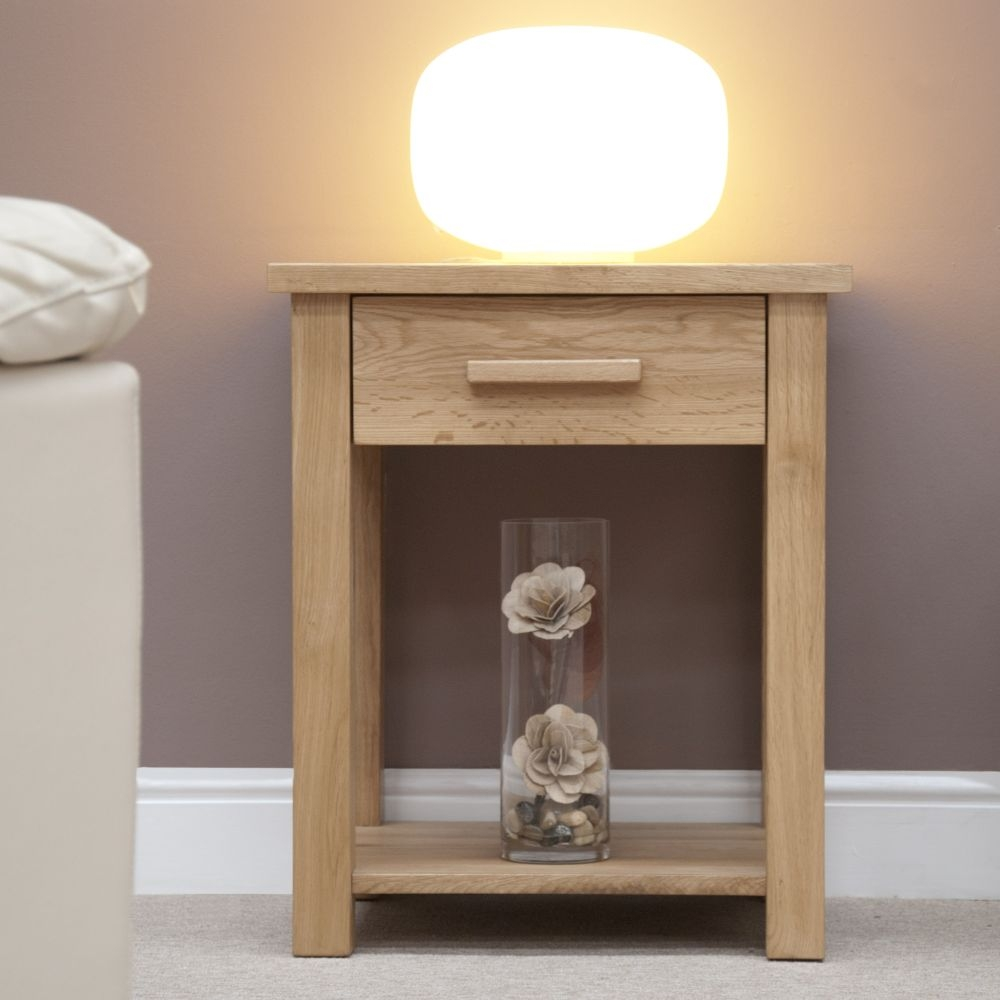 Homestyle GB Opus Oak 1 Drawer Lamp Table