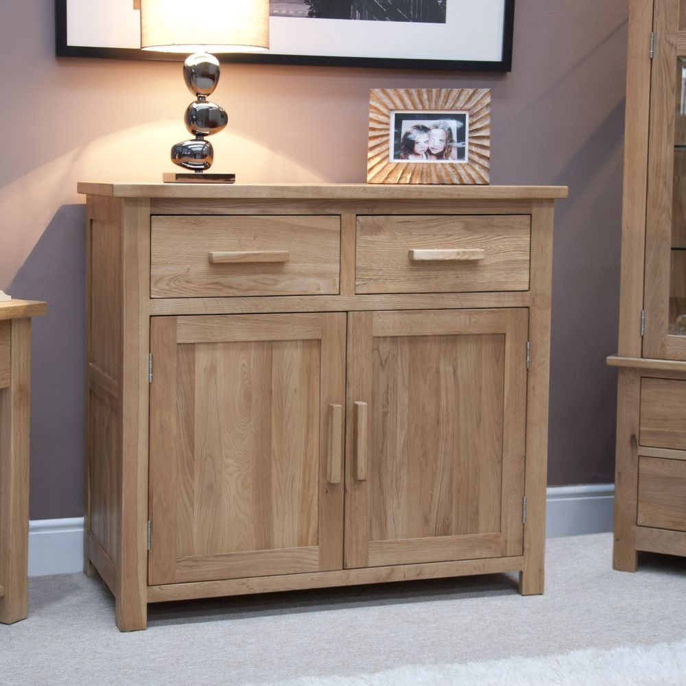 Homestyle GB Opus Oak 2 Door 2 Drawer Narrow Sideboard