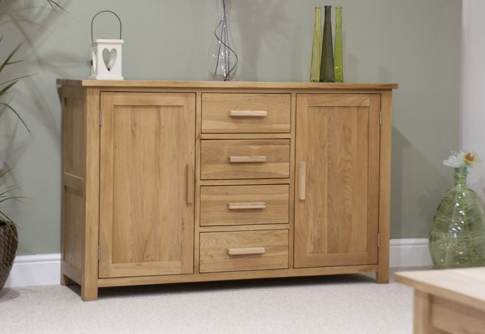 Homestyle GB Opus Oak 2 Door 4 Drawer Wide Sideboard