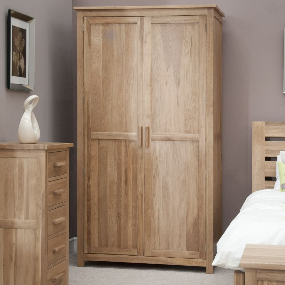 Homestyle GB Opus Oak 2 Door Double Wardrobe