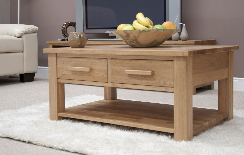 Homestyle GB Opus Oak  2 Drawer Storage Coffee Table