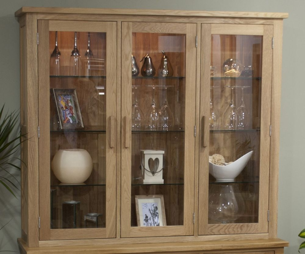 Homestyle GB Opus Oak 3 Door Sideboard Top