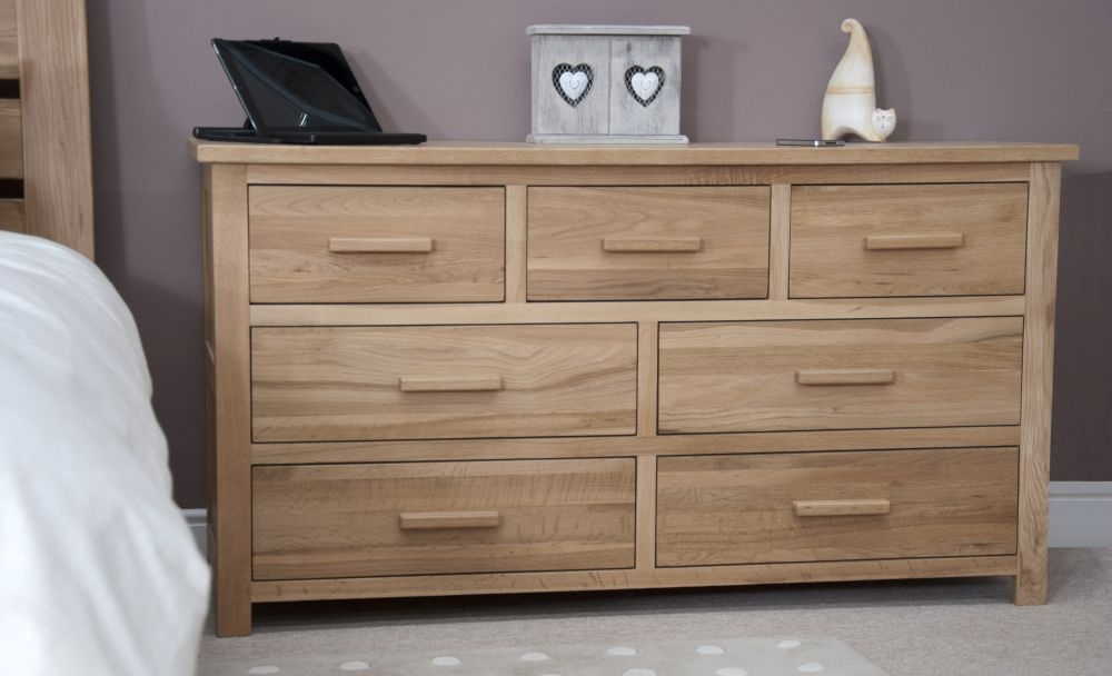 Homestyle GB Opus Oak Chest of Drawer - 7 Drawer Multi