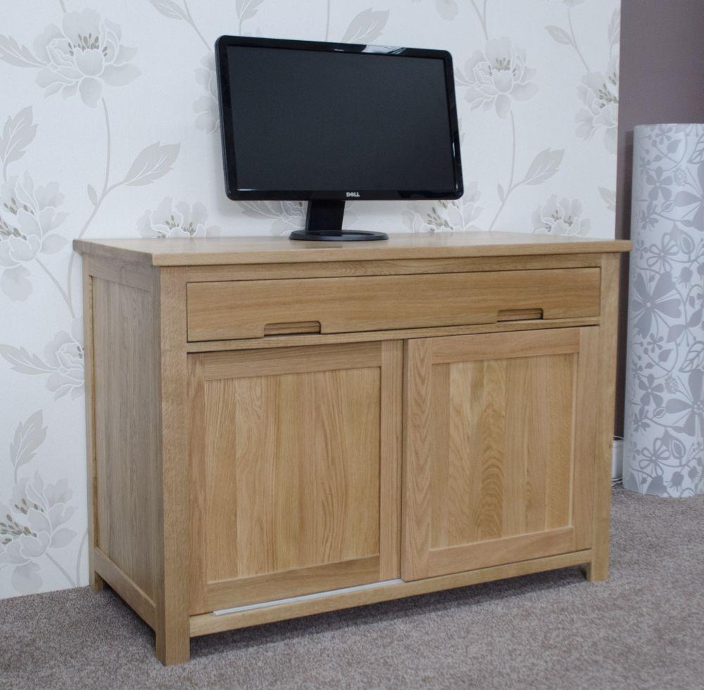 Homestyle GB Opus Oak Hideaway Computer Desk