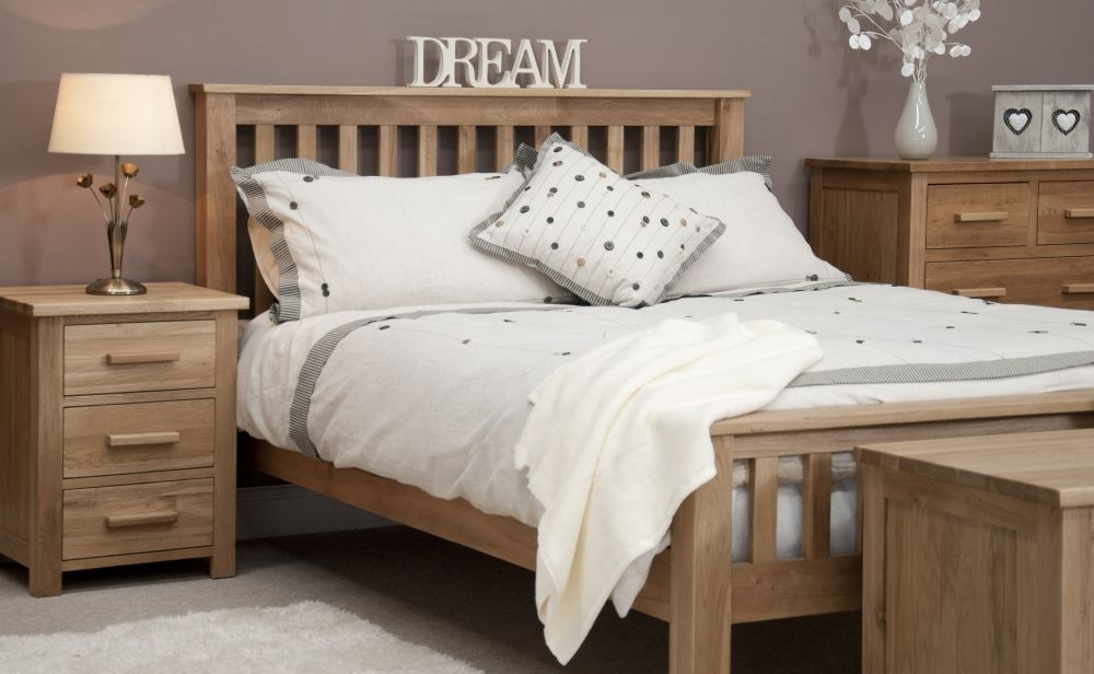 Homestyle GB Opus Oak High Foot End Bed