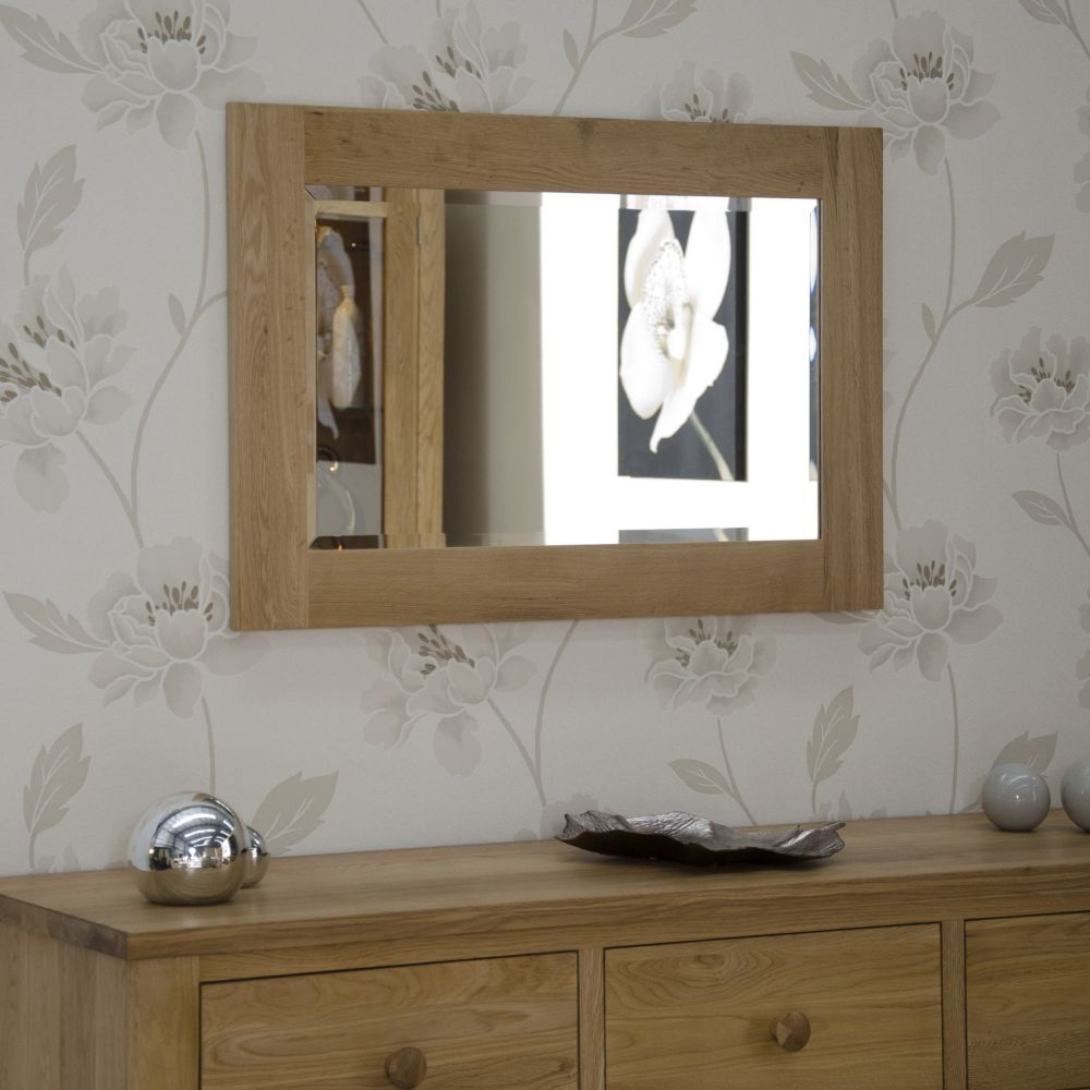 Buy homestyle gb opus oak wall mirror 900 x 600 online for Mirror 600 x 900