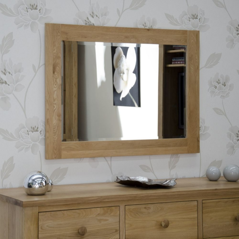 Homestyle GB Opus Oak Rectangular Small Wall Mirror 72cm x 102cm