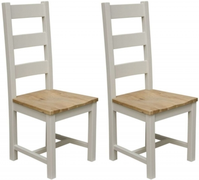 Homestyle GB Painted Deluxe Ladder Back Dining Chair (Pair)