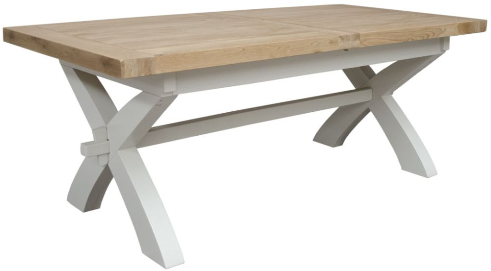Homestyle GB Painted Deluxe X-Leg Extending Dining Table