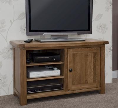Homestyle GB Rustic Oak TV Cabinet