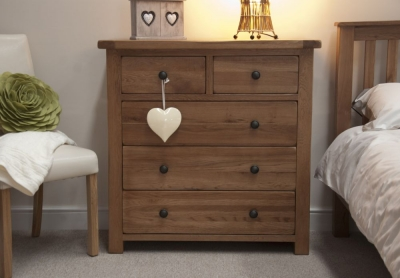 Homestyle GB Rustic Oak 3+2 Drawer Chest