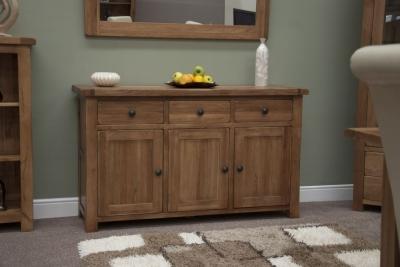 Homestyle GB Rustic Oak Large Sideboard