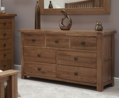 Homestyle GB Rustic Oak 4+3 Drawer Multi Chest