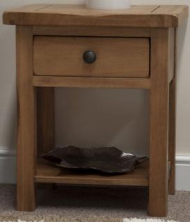 Homestyle GB Rustic Oak Lamp Table