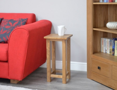 Homestyle GB Rustic Oak Occasional Lamp Table