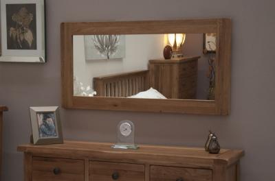 Homestyle GB Rustic Oak Rectangular Large Mirror - 64cm x 120cm