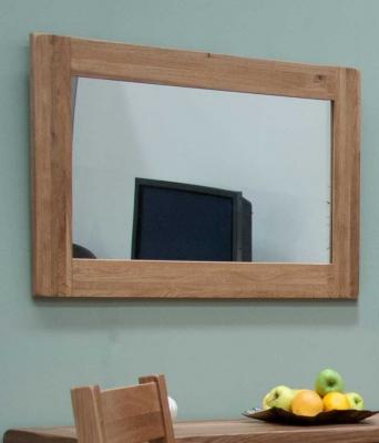 Homestyle GB Rustic Oak Rectangular Wall Mirror - 60cm x 90cm